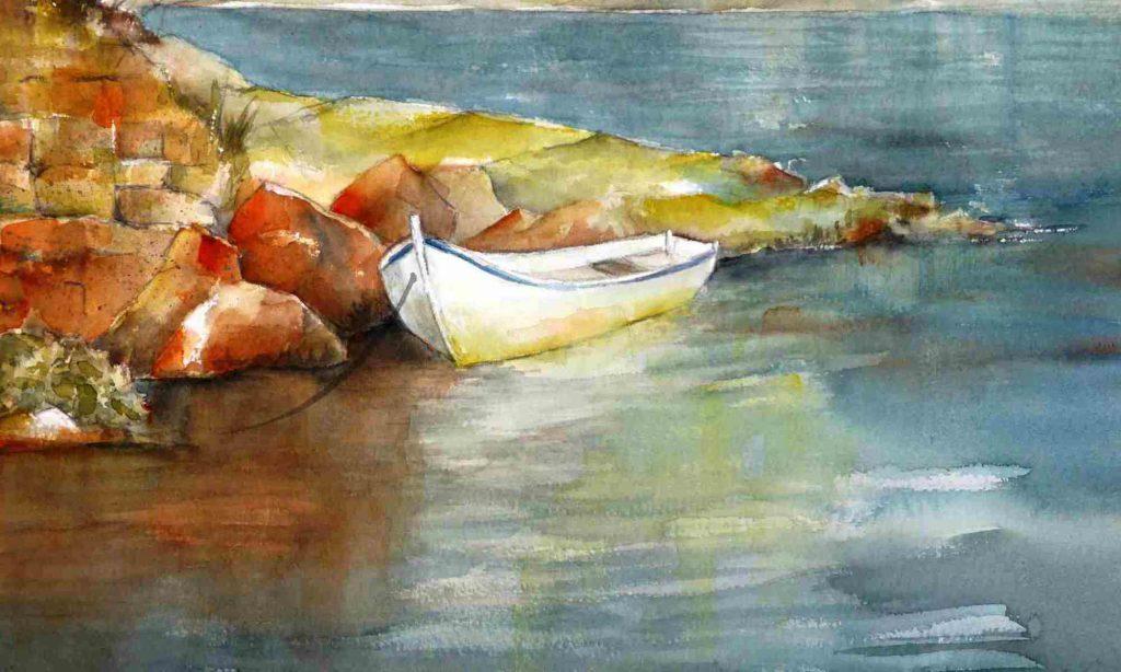 Ein Boot im Wasser
